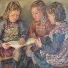 DSC_0059 ŠKOLAČKY, olej 100x70, 1952